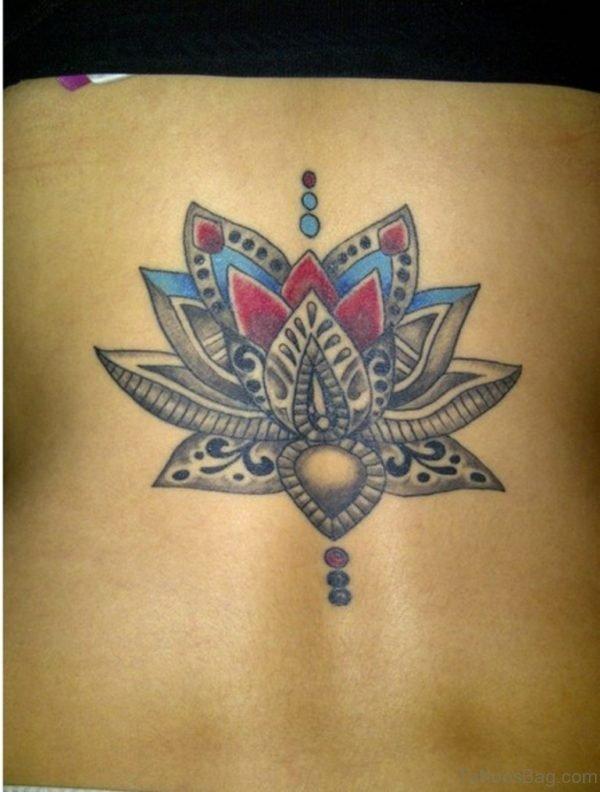 Nice Lotus Flower Tattoo