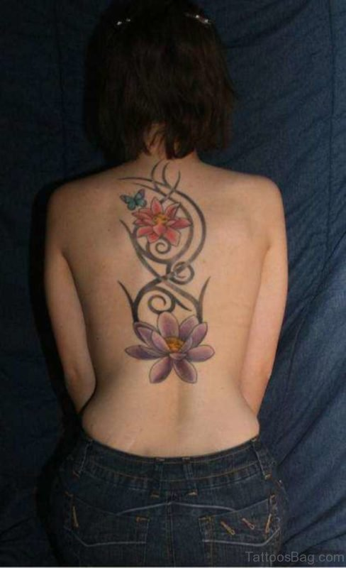Lotus Flower Tattoo Design For  Girls