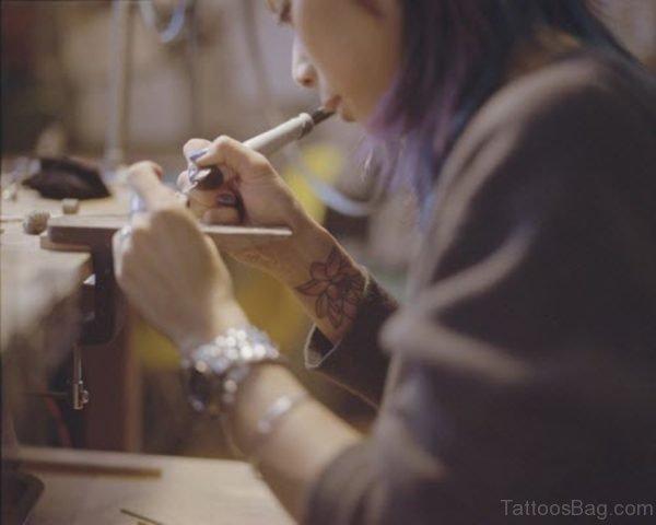 Cool Lotus Flower Tattoo On Wrist