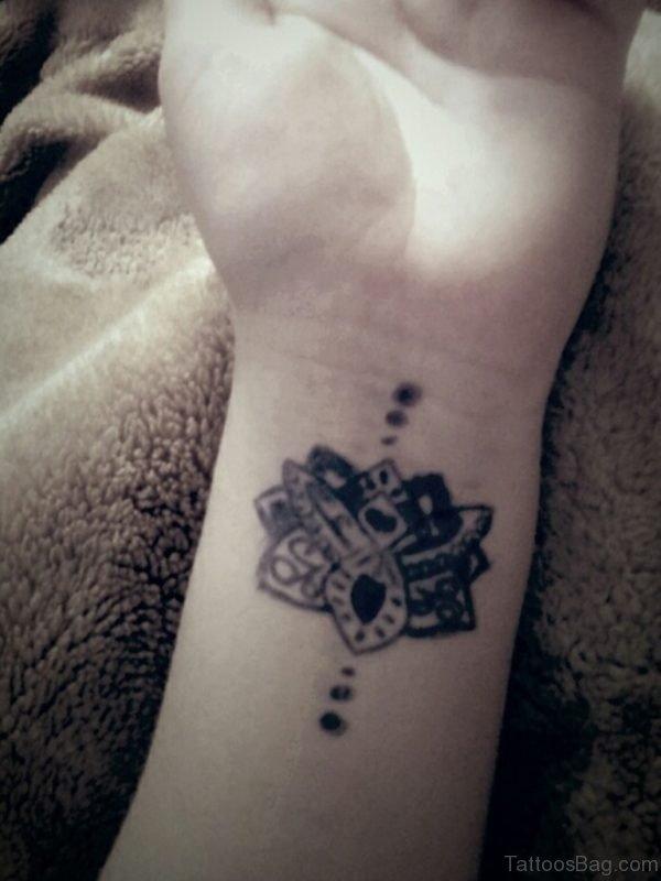 Amazing Lotus Tattoo Design On Wrist