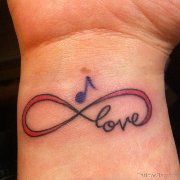 Love And Blue Music Note Tattoo