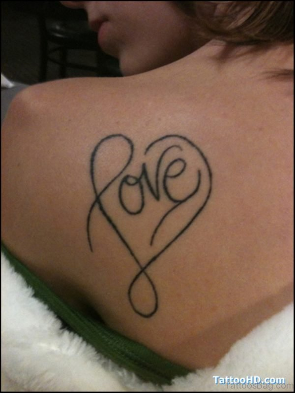 Love Heart Tattoo On Back