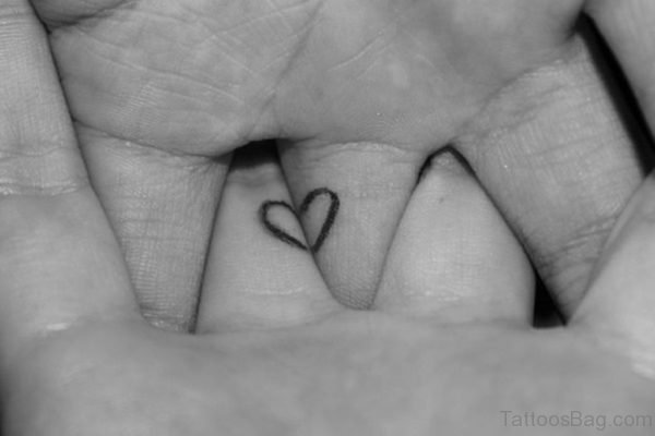 Love Heart Tattoo On Finger