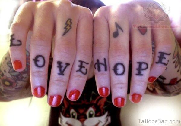 Love Hope Wording Tattoo