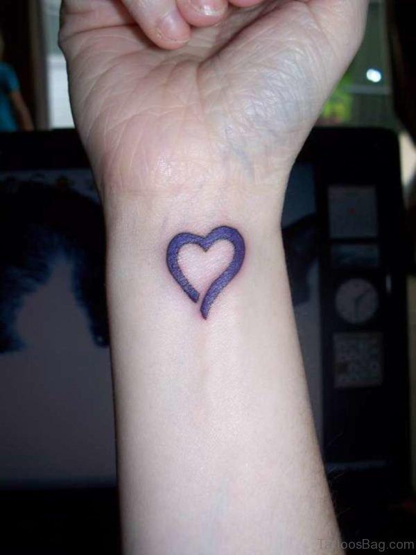 Love Purple Heart Tattoo
