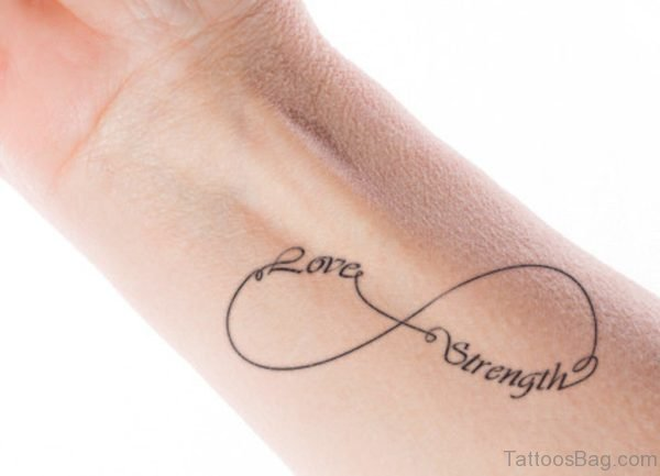 Love Strength Wrist Tattoo