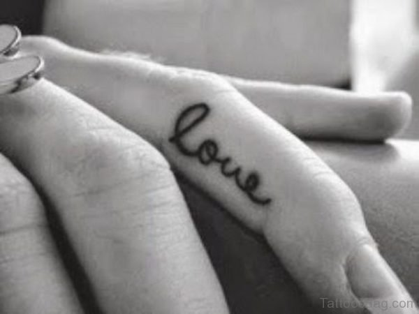 Love Word Tattoo Design