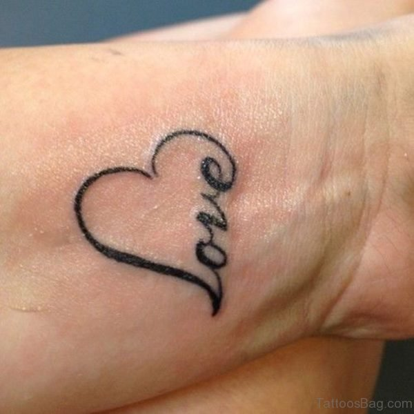 Love Word Tattoo On Wrist