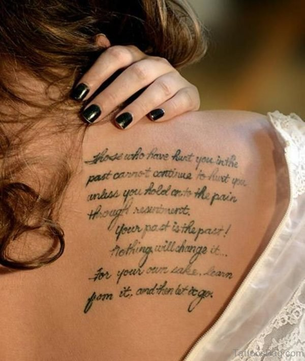 Love Wording Tattoo