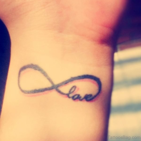 Love and Infinity Tattoo On Wrist