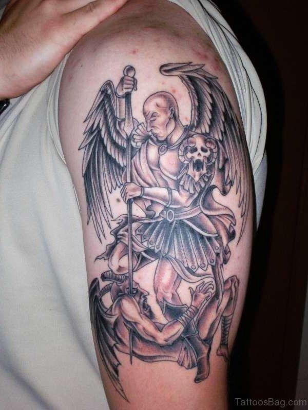 Lovely Angel Shoulder Tattoo