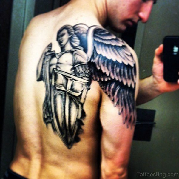 Lovely Angel Tattoo For Men