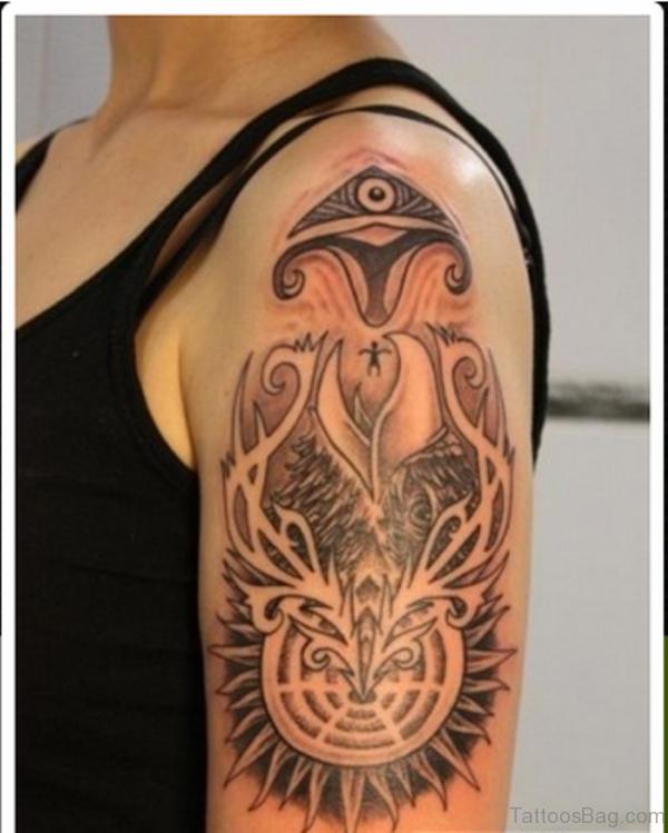 Lovely Aztec Tattoo Design