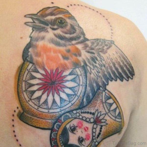 Lovely Bird Tattoo Design