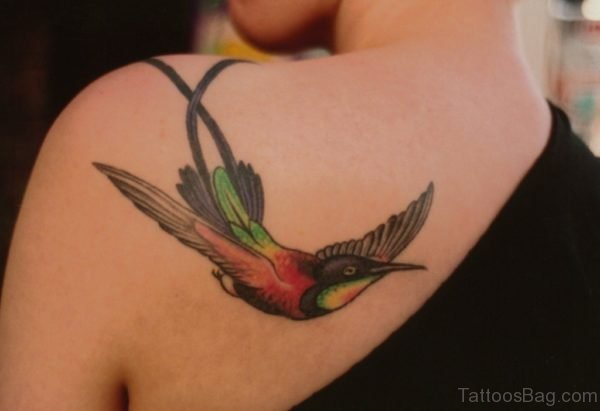 Lovely Birds Tattoo On Back