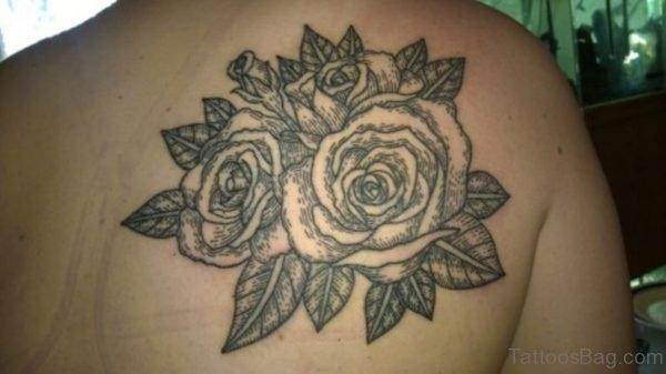 Lovely Black Roses Tattoo For Women