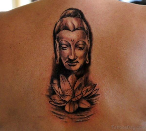 Lovely Buddha Back Tattoo