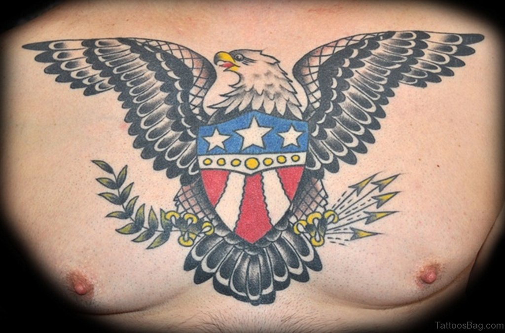 d5aa84169 40 Wonderful Eagle Tattoos Design For Chest