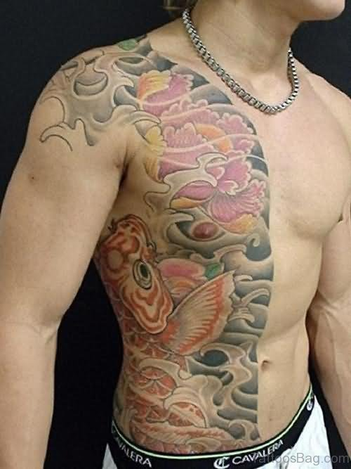 Lovely Fish Tattoo On Shoulder