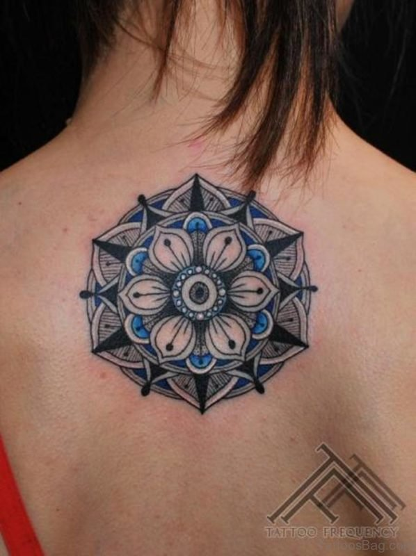 Lovely Geometric Tattoo On Back