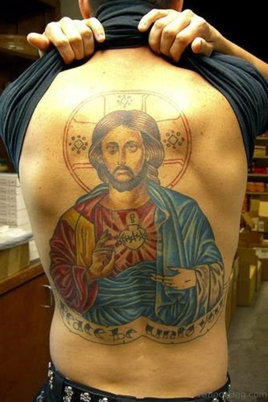 Lovely Jesus Tattoo