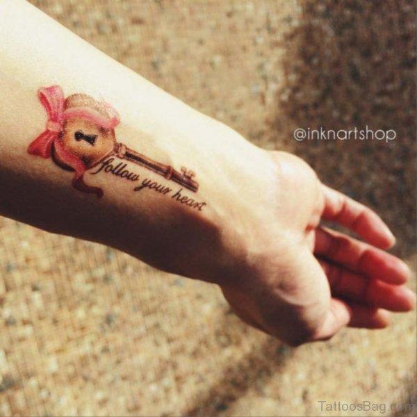 Lovely Key Tattoo
