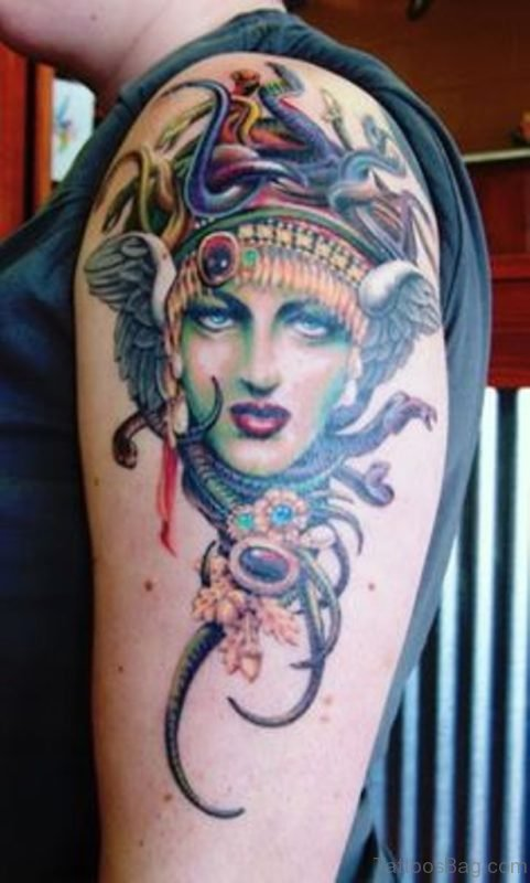 Lovely Medusa Tattoo