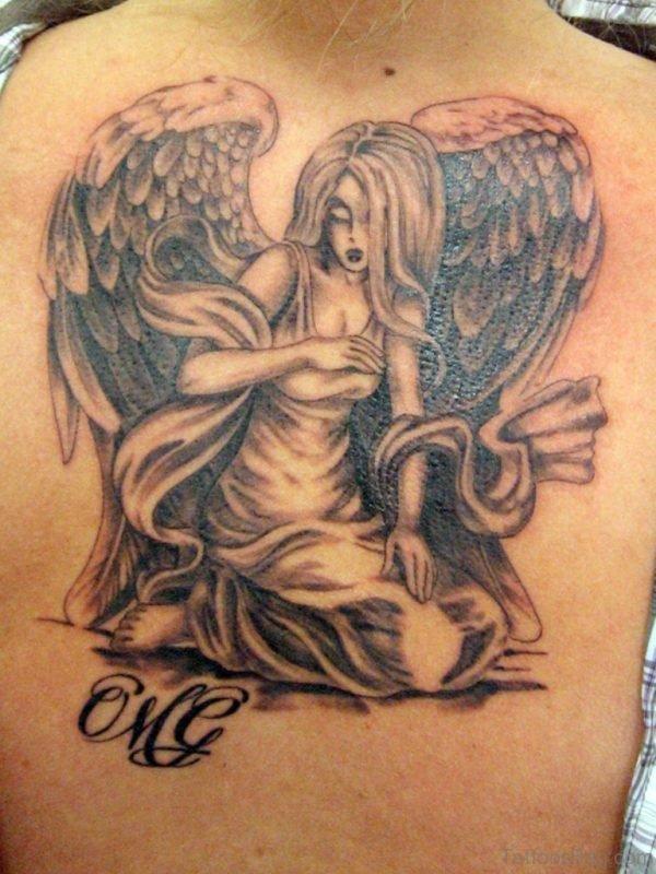 Lovely Memorial Angel Girl Tattoo