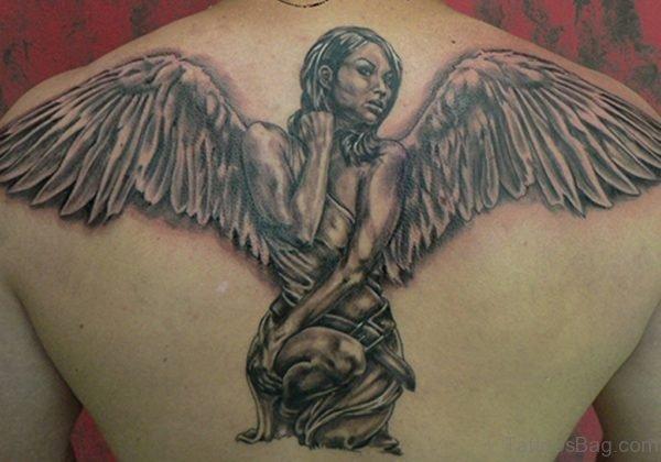 Lovely Memorial Angel Tattoo