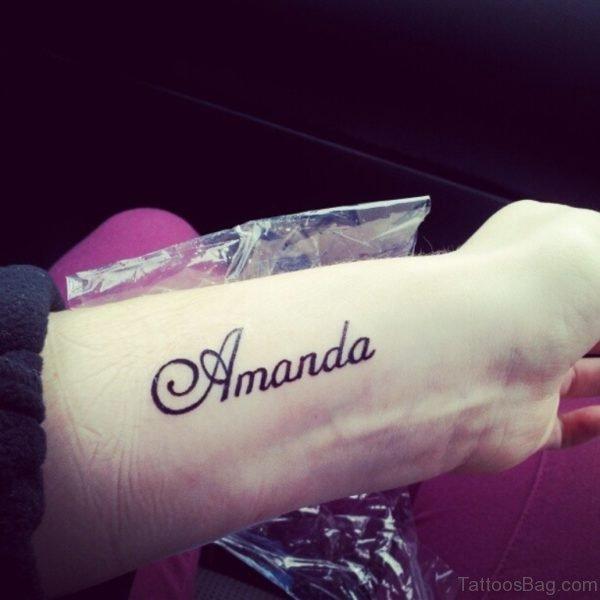 Lovely Name Tattoo