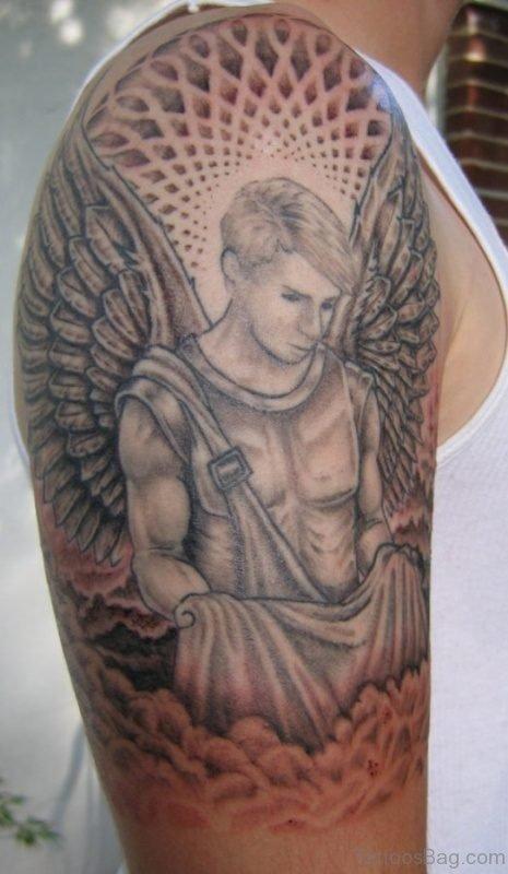 Lovely Shoulder Tattoo Of Angel