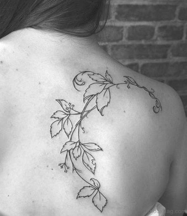 Lovely Shoulder Vine Tattoo