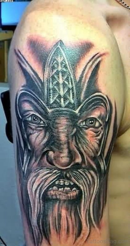 Lovely Warrior Tattoo Design