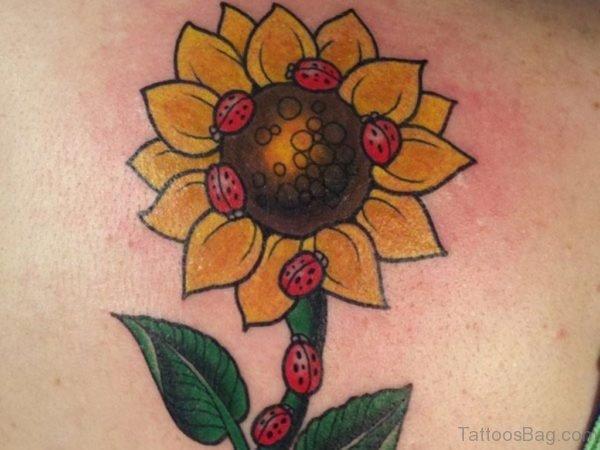 Lovely Sunflower Tattoo Design