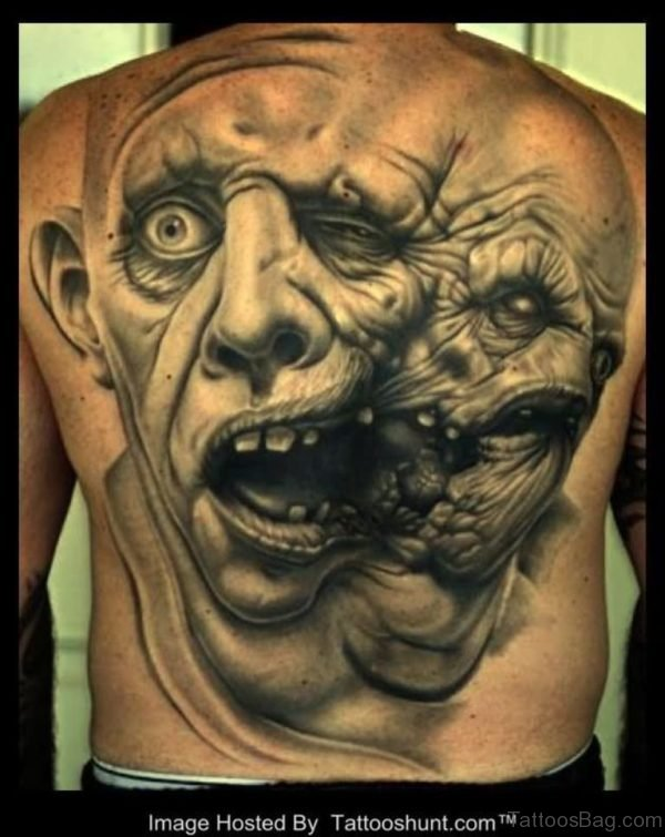 Magnificent  Horror Tattoo Design