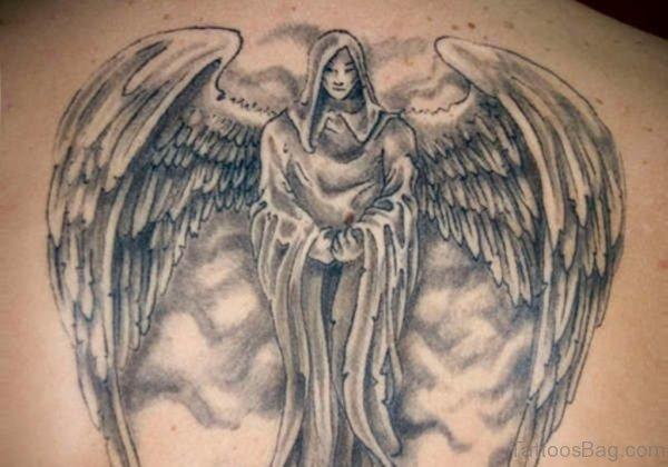 Magnificent Memorial Angel Tattoo Design