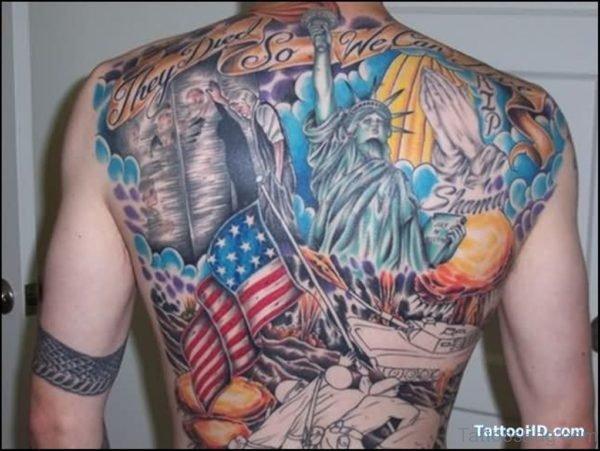 Magnificant Patriotic Tattoo Design-TB139