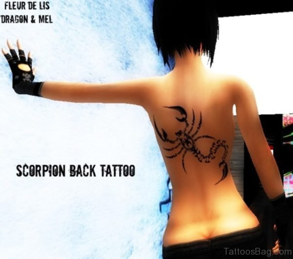 Magnificent Scorpion Tattoo On Back