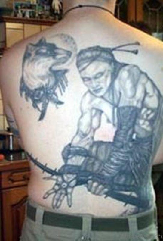 Man And Wolf Tattoo
