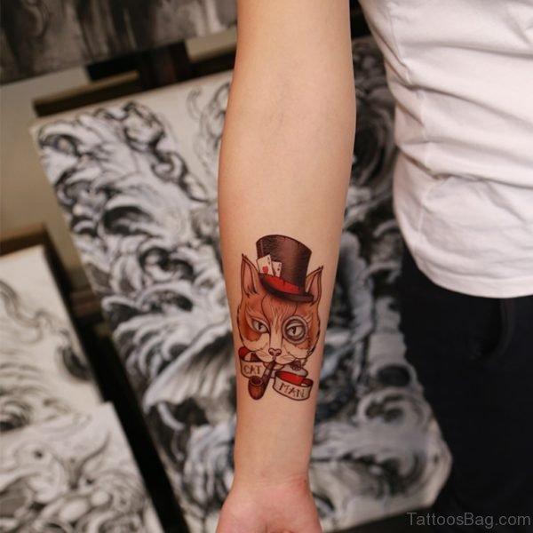 Man  Cat Tattoo