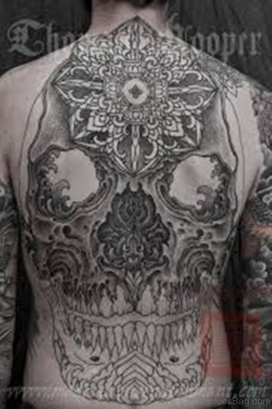 Mandala And Skull Tattoo