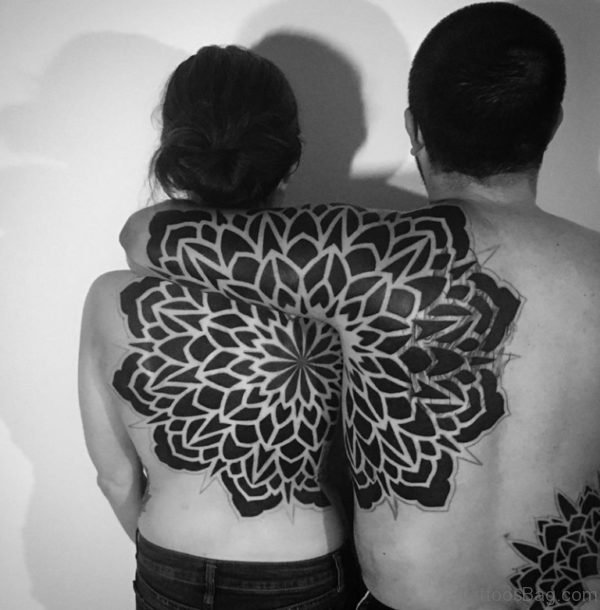 Mandala Couples Tattoo