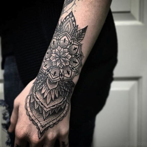 Mandala Flower Tattoo On Wrist
