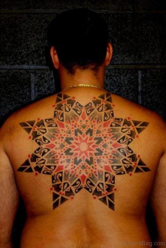 Mandala Star Tattoo On Back