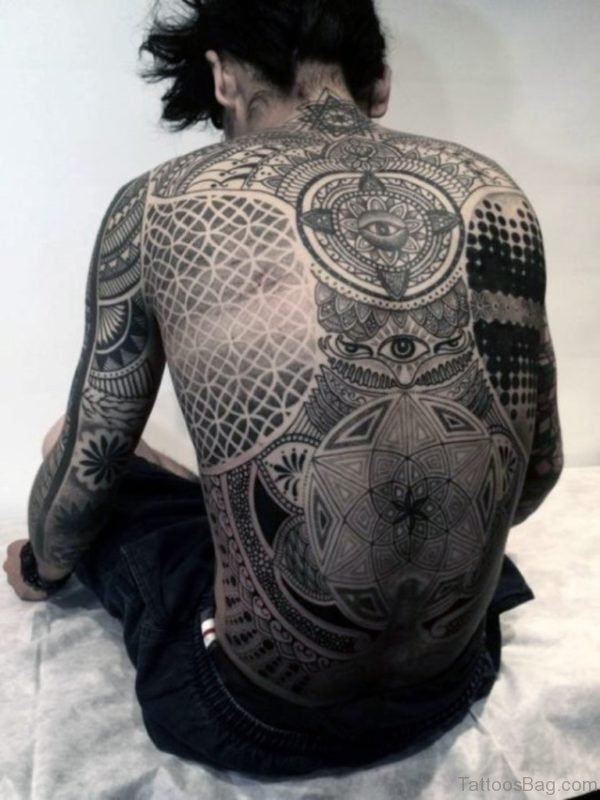 Mandala Tattoo Design On Full Back
