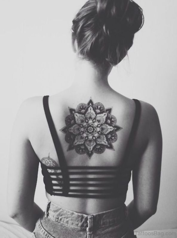 Mandala Tattoo On Back Center