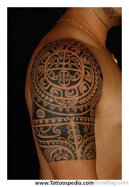 Maori Aztec Sun Tattoo