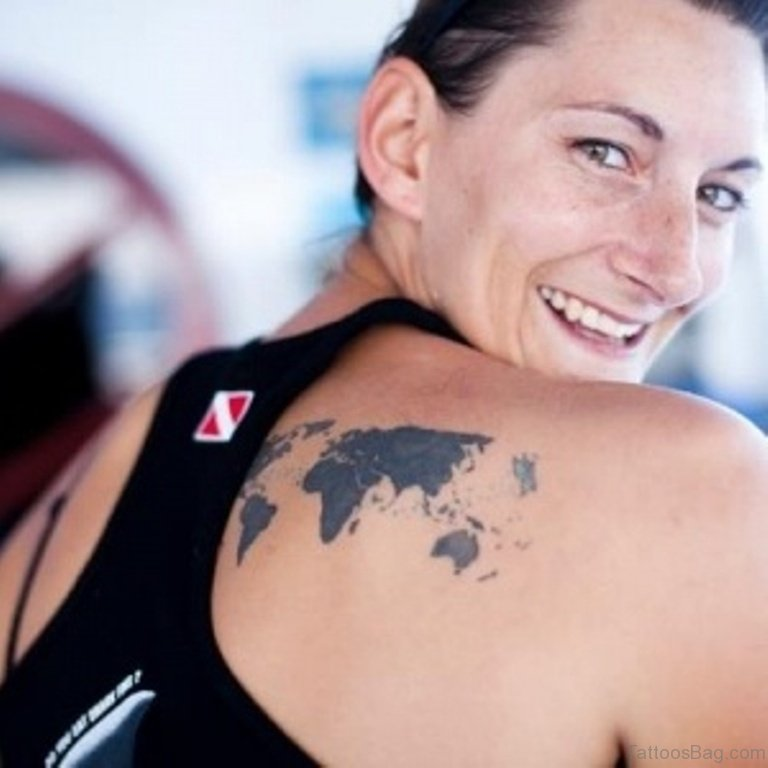 64 nice map tattoos for back map tattoo on back gumiabroncs Gallery