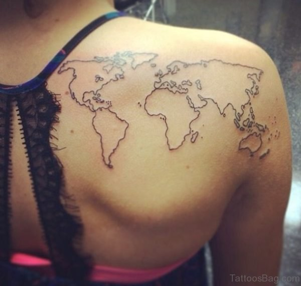 Map Tattoo For Women