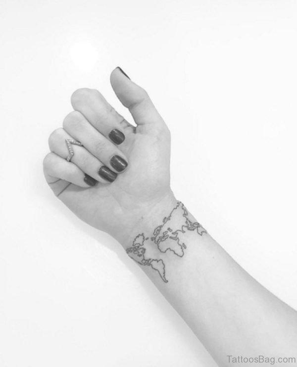 Map Tattoo On Wrist
